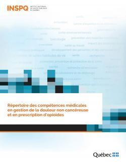 Répertoire des compétences médicales  en gestion de la douleur non cancéreuse  et en prescription d'opioïdes