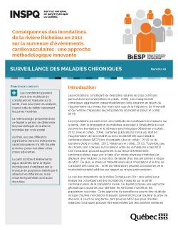 Conséquences des inondations de la rivière Richelieu en 2011 sur la survenue d'événements cardiovasculaires : une approche méthodologique innovante