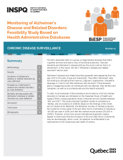 Monitoring of Alzheimer's Disease and Related Disorders: Feasibility Study Based on Health Administrative Databases