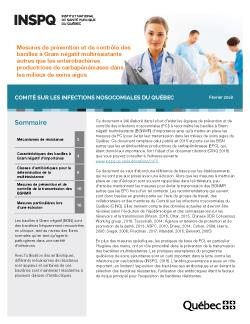 Mesures de prévention et de contrôle des bacilles à Gram négatif multirésistants autres que les entérobactéries productrices de carbapénémases dans les milieux de soins aigus