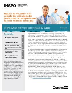 Mesures de prévention et de contrôle des entérobactéries productrices de carbapénémases dans les milieux de soins aigus
