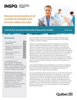 Mesures de prévention et  de contrôle du Candida auris  dans les milieux de soins