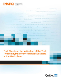 Fact Sheets on the Indicators of the Tool for Identifying Psychosocial Risk Factors in the Workplace