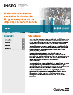 Portrait des carcinomes canalaires in situ dans le Programme québécois de dépistage du cancer du sein