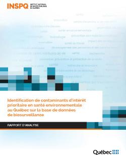 Identification de contaminants d'intérêt prioritaire en santé environnementale au Québec sur la base de données de biosurveillance