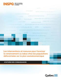Les interventions et mesures pour favoriser le renoncement au tabac chez les populations défavorisées sur le plan socioéconomique