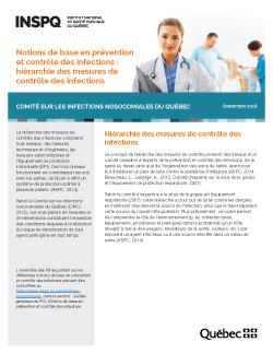 Notions de base en prévention et contrôle des infections : hiérarchie des mesures de contrôle des infections