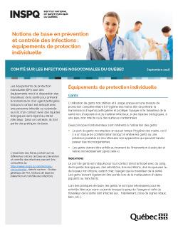 Notions de base en prévention et contrôle des infections : équipements de protection individuelle