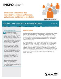 Portrait de l'ensemble des maladies vasculaires au Québec : prévalence, incidence et mortalité