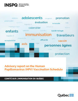 Advisory report on the Human Papillomavirus (HPV) Vaccination Schedule