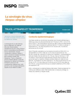 La sérologie du virus Herpes simplex : trucs, attrapes et tromperies!