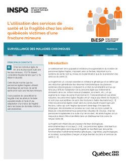 L'utilisation des services de santé et la fragilité chez les aînés québécois victimes d'une fracture mineure