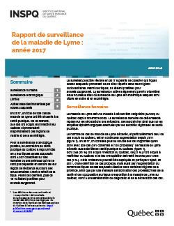 Rapport de surveillance de la maladie de Lyme : année 2017
