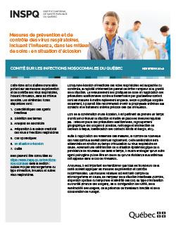 Mesures de prévention et de contrôle des virus respiratoires, incluant l'influenza, dans les milieux de soins : en situation d'éclosion
