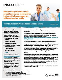 Mesures de prévention et de contrôle des virus respiratoires, incluant l'influenza, dans les milieux de soins : outils