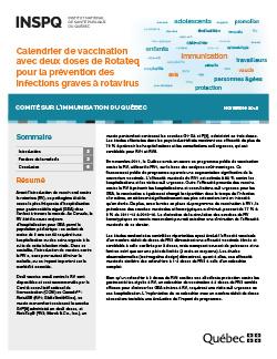 Calendrier de vaccination avec deux doses de Rotateq pour la prévention des infections graves à rotavirus