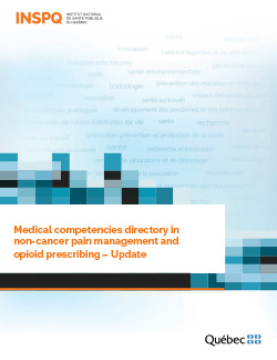 Medical competencies directory in non-cancer pain management and opioid prescribing– Update