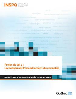 Projet de loi 2 : Loi resserrant l'encadrement du cannabis