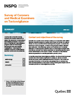 Survey of Coroners and Medical Examiners on Toxicovigilance