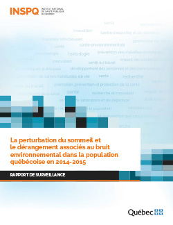 La perturbation du sommeil et le dérangement associés au bruit environnemental dans la population québécoise en 2014-2015