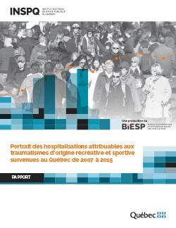 Portrait des hospitalisations attribuables aux traumatismes d'origine récréative et sportive survenues au Québec de 2007 à 2015
