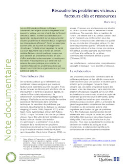 Résoudre les problèmes vicieux : facteurs clés et ressources