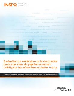 Évaluation du webinaire sur la vaccination contre les virus du papillome humain (VPH) pour les infirmières scolaires – 2017