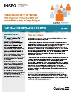 Conceptualisation et mesure des espaces verts aux fins de surveillance en santé publique