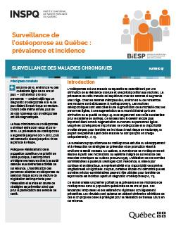Surveillance de l'ostéoporose au Québec : prévalence et incidence