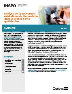 Analyse de la couverture médiatique de l'intimidation dans la presse écrite québécoise
