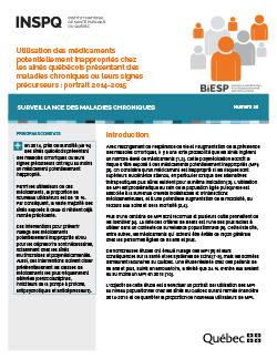 Utilisation des médicaments potentiellement inappropriés chez les aînés québécois présentant des maladies chroniques ou leurs signes précurseurs : portrait 2014-2015