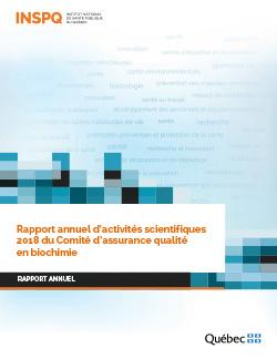 Rapport annuel d'activités scientifiques 2018 du Comité d'assurance qualité en biochimie