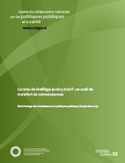 La note de breffage (policy brief) : un outil de transfert de connaissances