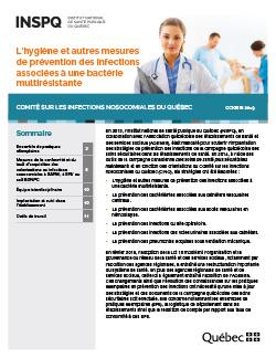 L'hygiène et autres mesures de prévention des infections associées à une bactérie multirésistante