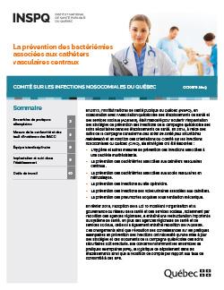 La prévention des bactériémies associées aux cathéters vasculaires centraux