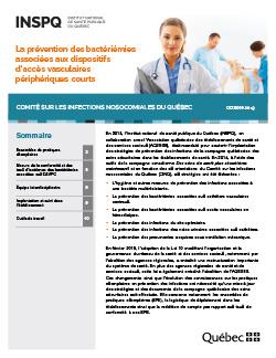 La prévention des bactériémies associées aux dispositifs d'accès vasculaires périphériques courts