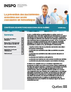 La prévention des bactériémies associées aux accès vasculaires en hémodialyse