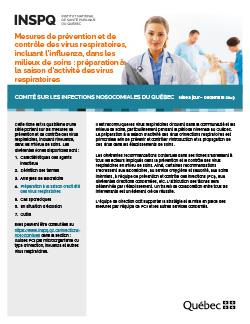 Mesures de prévention et de contrôle des virus respiratoires, incluant l'influenza, dans les milieux de soins : préparation à la saison d'activité des virus respiratoires
