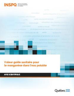 Valeur guide sanitaire pour le manganèse dans l'eau potable