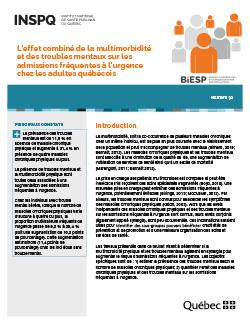 L'effet combiné de la multimorbidité et des troubles mentaux sur les admissions fréquentes à l'urgence chez les adultes québécois