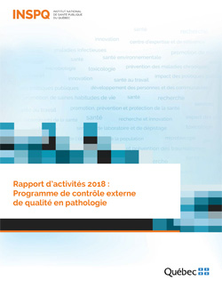 Rapport d'activités 2018 : Programme de contrôle externe de qualité en pathologie
