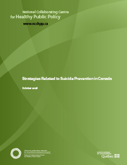 Strategies Related to Suicide Prevention in Canada