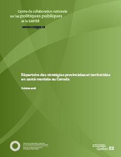 Répertoire des stratégies provinciales et territoriales en santé mentale au Canada