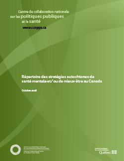 Répertoire des stratégies autochtones de santé mentale et/ou de mieux-être au Canada