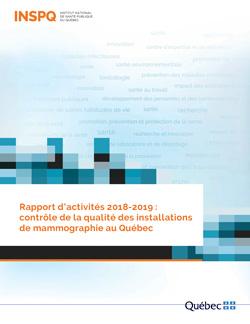 Rapport d'activités 2018-2019 : contrôle de la qualité des installations de mammographie au Québec