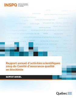 Rapport annuel d'activités scientifiques 2019 du Comité d'assurance qualité  en biochimie