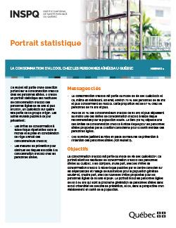 Portrait statistique –  La consommation d'alcool chez  les personnes aînées au Québec