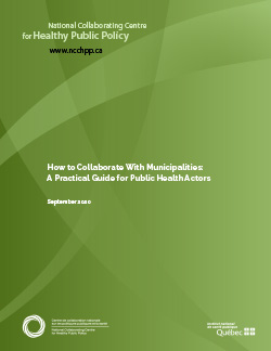 How to Collaborate With Municipalities:  A Practical Guide for Public Health Actors
