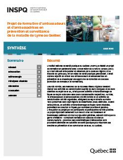 Projet de formation d'ambassadeurs et d'ambassadrices en prévention et surveillance de la maladie de Lyme au Québec