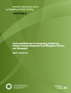 Tools and Methods for Integrating Health into Climate Change Adaptation and Mitigation Policies and Strategies
